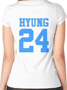 BTS/Bangtan Boys 'HYUNG 24'  Women's Fitted Scoop T-Shirt