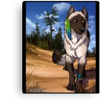 Pine Forest Wolf  Canvas Print