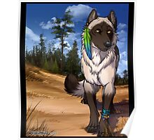Pine Forest Wolf  Poster