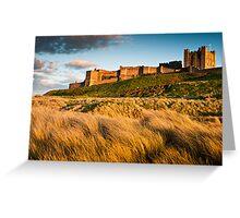 Bamburgh Castle, Northumberland. UK Greeting Card