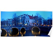 Dusk in Amsterdam Poster