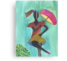 Frevo girl with pink umbrella Canvas Print