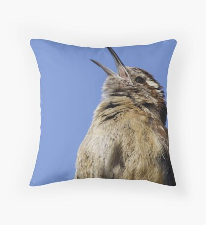 Singing a happy song! Throw Pillow