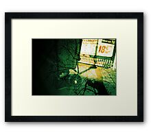 camera in paris with trees, analogue multiple exposure Framed Print