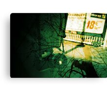 camera in paris with trees, analogue multiple exposure Canvas Print