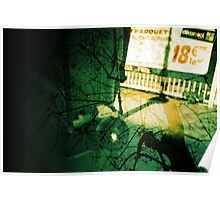 camera in paris with trees, analogue multiple exposure Poster