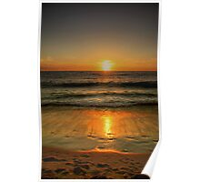 Sunset Over Cottesloe Beach, Western Australia Poster