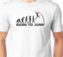 Evolution Born to jump pole vault Unisex T-Shirt