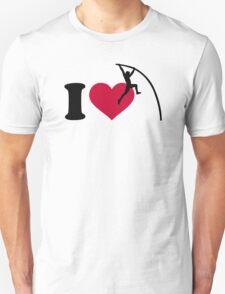 I love Pole vault Unisex T-Shirt