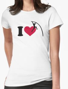 I love Pole vault Womens Fitted T-Shirt