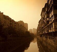 Changzhou River Reflection by Chris Millar