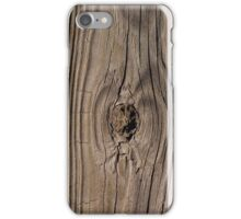 Wood grain texture with knot iPhone Case/Skin