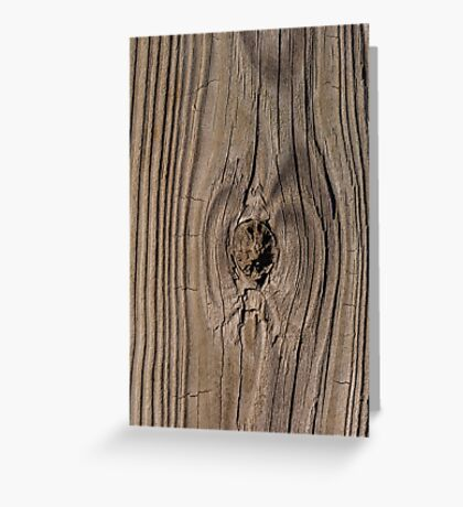 Wood grain texture with knot Greeting Card