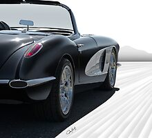 1958 Chevrolet Corvette 'all in perspective' by DaveKoontz