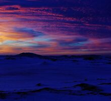 Blue Frozen Sunset by Kathilee