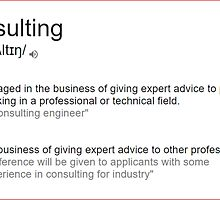 What is meaning of consulting by santoshputhran