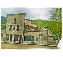 Dawson City Buildings Poster