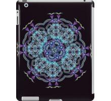 Electric Blue Purple Mix Mandala Floral Circle  iPad Case/Skin