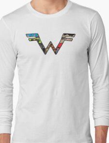 W Dragonfight-cooltexture B&WCarnival of Doooom w/Text Long Sleeve T-Shirt