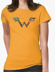 W Dragonfight-cooltexture B&WCarnival of Doooom w/Text Womens Fitted T-Shirt