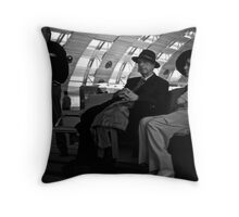 Couple at Charles de Gaulle Throw Pillow