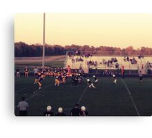 Small Town Football Game Canvas Print