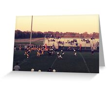 Small Town Football Game Greeting Card