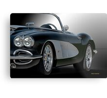 1958 Chevrolet Corvette 3Q 'Studio' Metal Print
