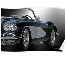 1958 Chevrolet Corvette 3Q 'Studio' Poster