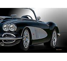 1958 Chevrolet Corvette 3Q 'Studio' Photographic Print