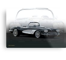 1958 Chevrolet Corvette 'Composite I' Metal Print