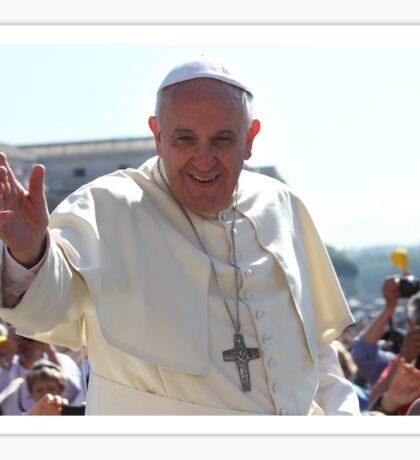Pope Francis portrait Sticker