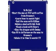 Checklist:Once Upon A Time Edition iPad Case/Skin