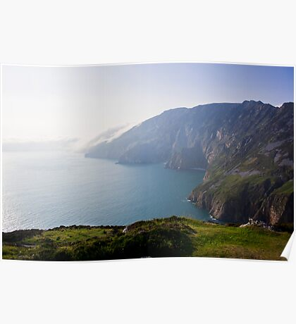 As Clouds Roll In. Slieve League, Ireland, Poster