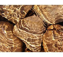 Golden Ripples Photographic Print