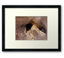 Cave In Disguise Framed Print