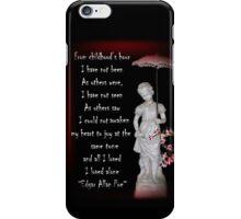 I Loved Alone iPhone Case/Skin