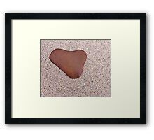 All Heart Stone Framed Print