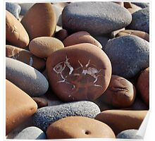 Gray and Brown Beach Stones Poster