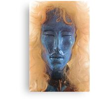 Blue Face With Collar Canvas Print