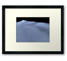 Blue Snow Blanket Framed Print