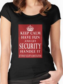 Keep Calm - Security Women's Fitted Scoop T-Shirt