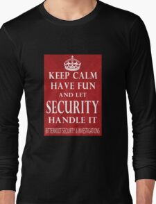 Keep Calm - Security Long Sleeve T-Shirt
