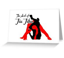 The Art of Jiu Jitsu Rear Triangle Choke  Greeting Card