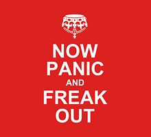 now panic and freak out Womens Fitted T-Shirt