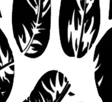 Feather Wolf Paw Print Sticker