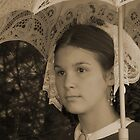 Young Girl With Parasol by Judith Hayes