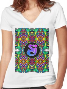 String Cheese Incident - Trippy Pattern 2 Women's Fitted V-Neck T-Shirt