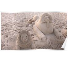 Sand Lion and Pharoah Poster