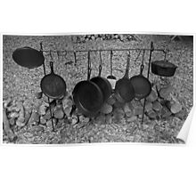 Kitchen appliences in BW Poster